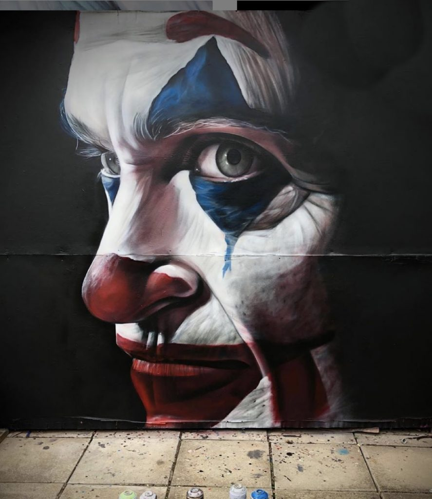 172-the joker-spray paint-joker-street art-joaquin phoenix-mural art-graffiti art