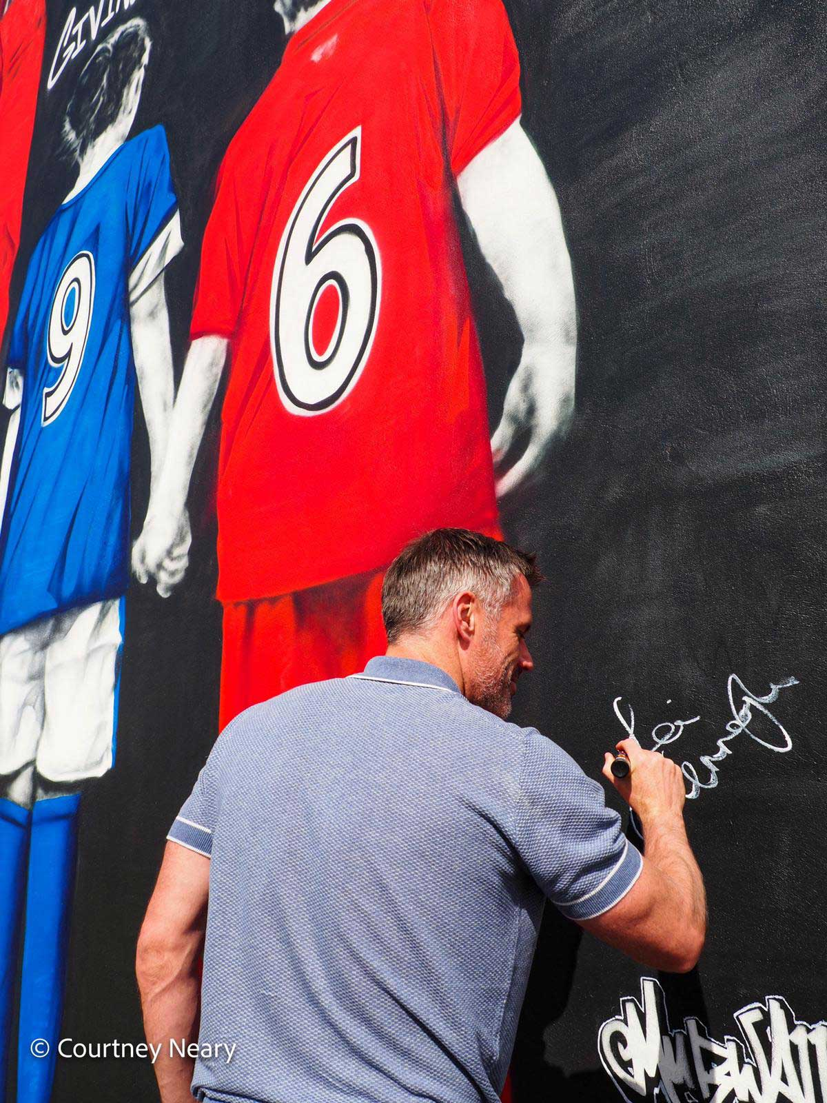 Jamie-Carragher-Signs-Foundation-Wall-Mural